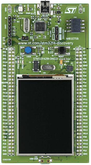 ST STM32F429I-DISC1 Discovery board — Zephyr Project